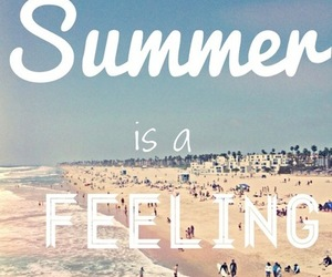 beach, feeling, and summer image