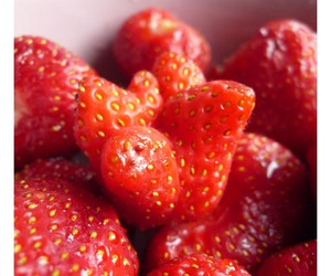 photo, strawberry, and summer image