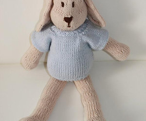 knitted bunny, eco friendly bunny, and bunny for babies image