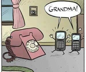 funny, phone, and grandma image