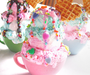 ice cream, food, and sweet image