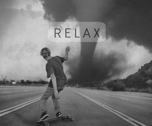 relax, skate, and boy image
