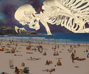 art, trippy, and beach image