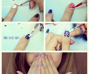 fourth of july, nails, and cute image