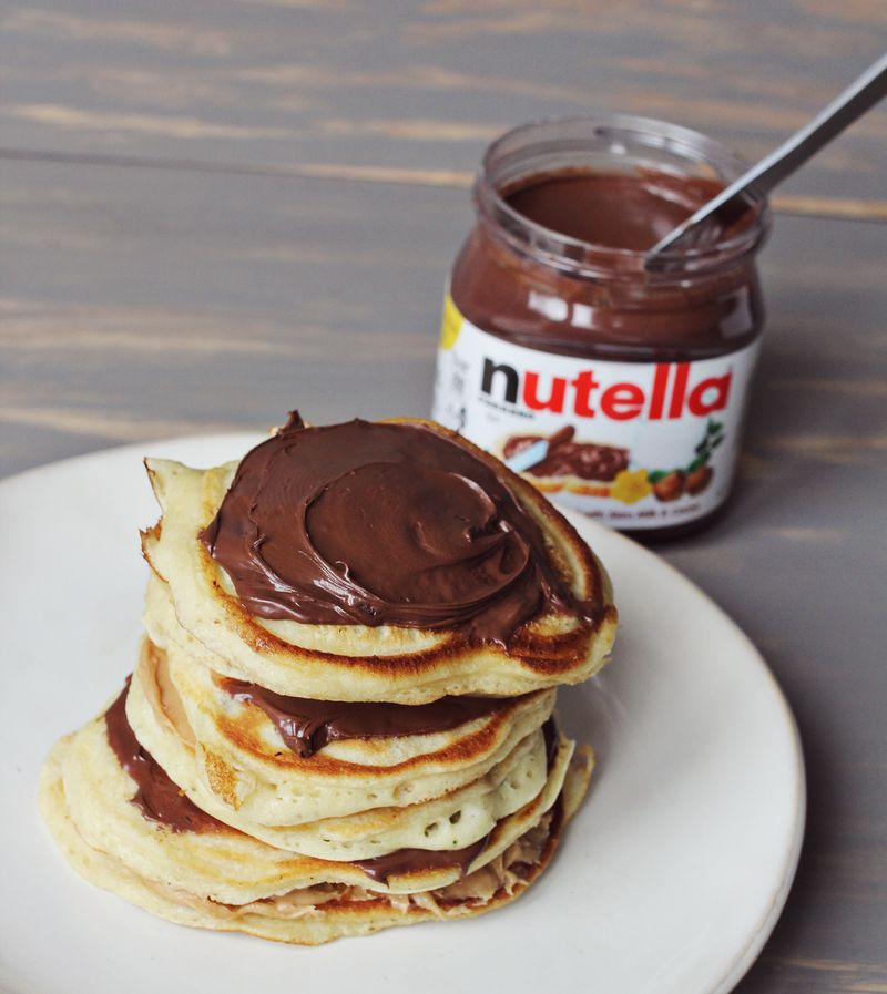 chocolate, pancakes, and perfect breakfast image