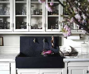 inspiration, kitchen, and black sink image