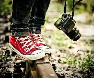 camera, converse, and red image