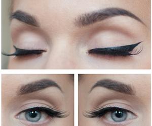 cat eyes, delineador, and eyeliner image