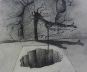 3d, draw, and hole image