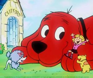 cleo, throwback, and clifford the big red dog image