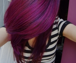 hair, dyed hair, and purple image