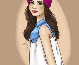 art, drawing, and selena gomez image