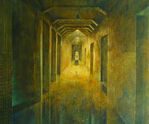 ??, doors, and hallway image