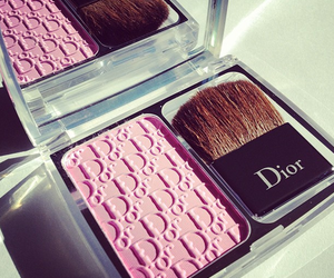 dior, makeup, and pink image