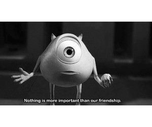 friendship, monsters inc, and quote image