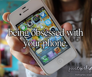 phone, iphone, and obsessed image