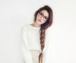 ulzzang, korean, and hair image