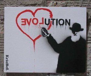 love, evolution, and graffiti image