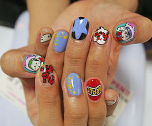 anime, nail, and pop image