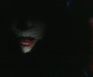 horror, red lips, and screen capture image