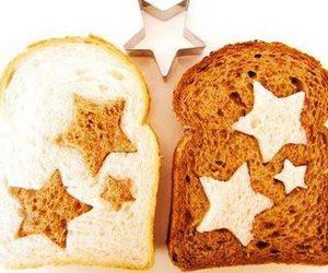 stars, bread, and food image