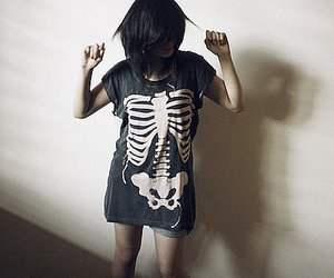 girl and skeleton image