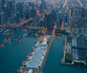 chicago, cityscape, and nature image