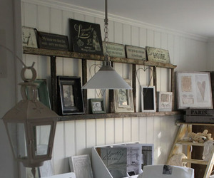 books, decor, and ladder image