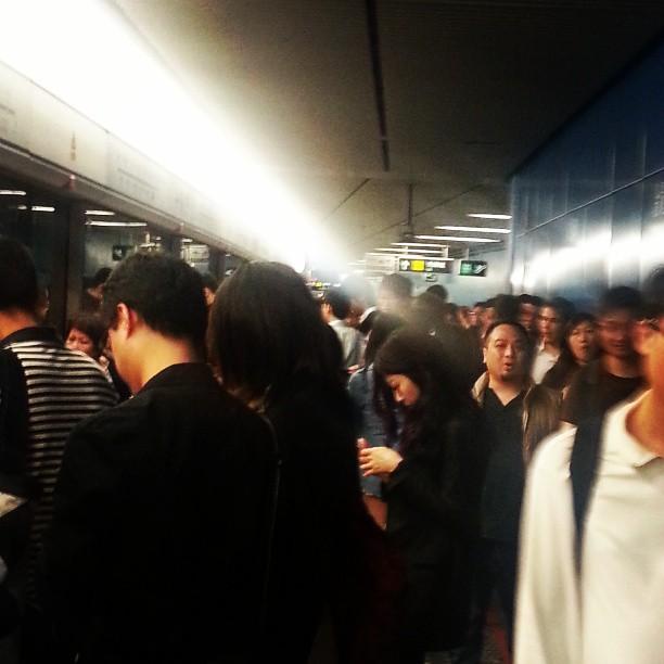 china, crowd, and hong kong image
