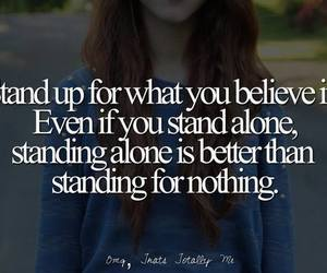 alone, quote, and believe image