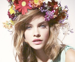 flowers, model, and barbara palvin image