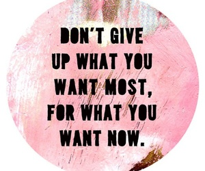 quote, pink, and don't give up image
