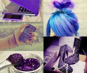 purple, hair, and shoes image