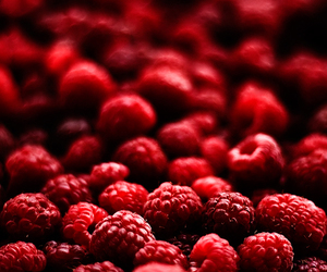 raspberry, red, and food image