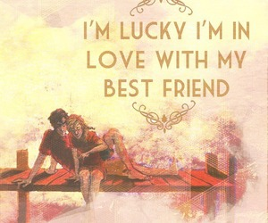 best friend, lucky, and Relationship image