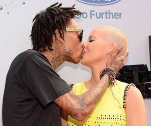 Amber Rose, kisses, and love image