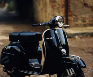 Vespa and black image