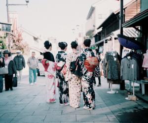 japan, asian, and kimono image