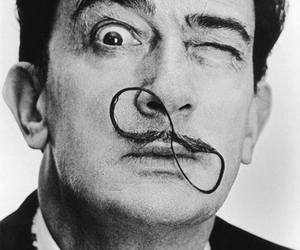 art, dali, and black and white image