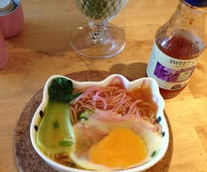 egg, asian food, and plum noodles image