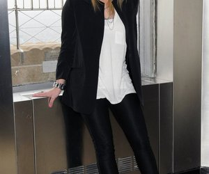black, Hilary Duff, and outfit image