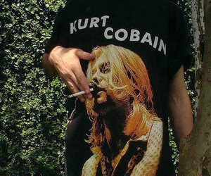 kurt cobain, cigarette, and nirvana image