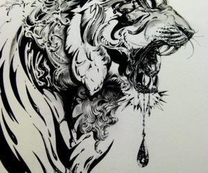 tiger, art, and tattoo image