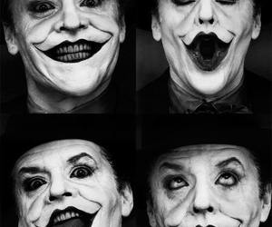 joker, batman, and black and white image