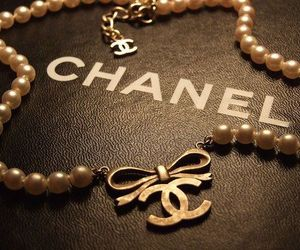 chanel, necklace, and pearls image