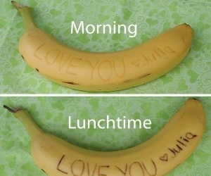love, banana, and message image