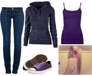 blue, Polyvore, and purple image
