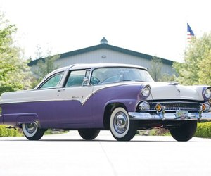 car, ford, and purple image