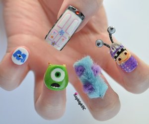 nails, monster, and monsters inc image