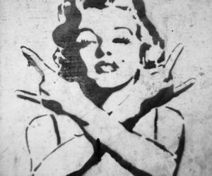 beauty, graffiti, and Marilyn Monroe image